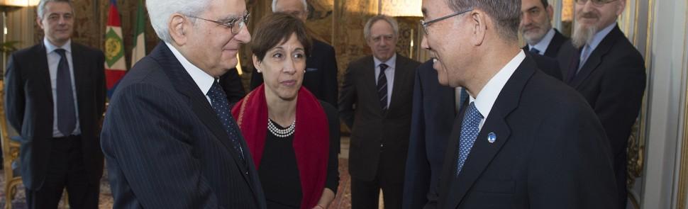 Secretary-General Ban Ki-moon meeting with H E  Mr. Sergio Mattarella, President  of Italy.